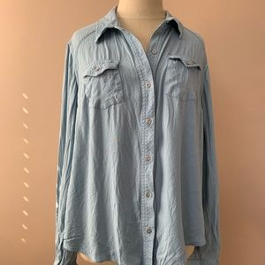 Jessica Simpson Button Up Blue Denim Shirt